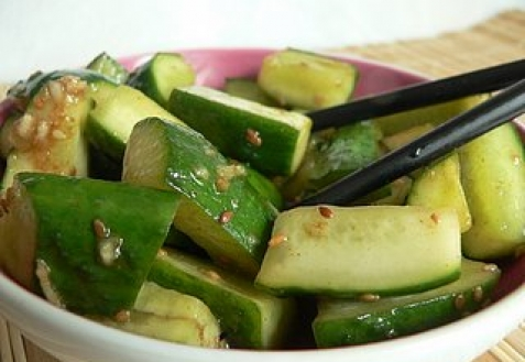 Корейские салаты с огурцов